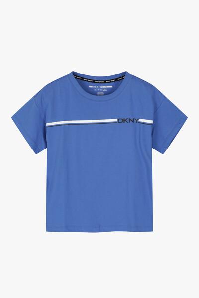 로고 스트라이프 크롭 티셔츠
