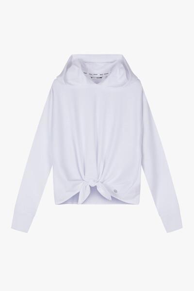 솔리드 요가 후드 티셔츠
