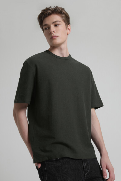 코튼 베이직 하프 슬리브 티셔츠