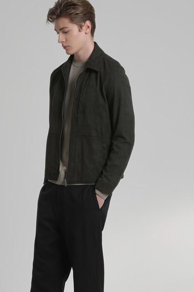 미니멀 싱글 스웨이드 자켓