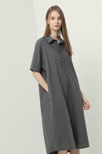 미니멀 셔츠 원피스