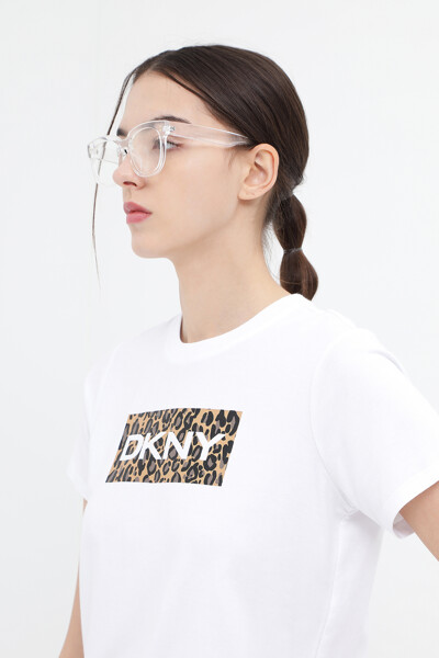 레오파드 로고 티셔츠
