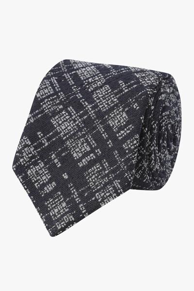 쉐도우 체크 패턴 블레이드 넥타이