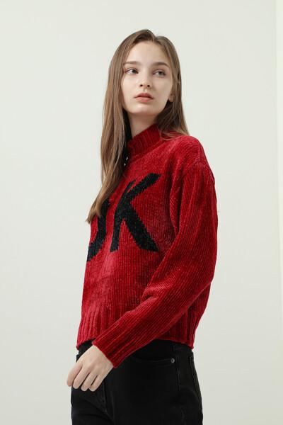퍼프 로고 스웨터