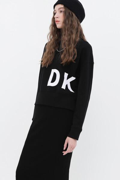 플록 로고 스웨트셔츠