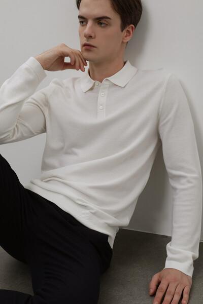 [남성] 울혼방 솔리드 폴로 탑