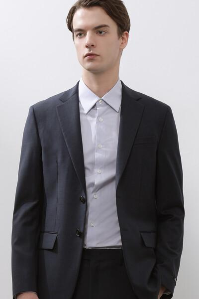 [남성] 울 센트럴핏 마이크로 패턴 수트 자켓