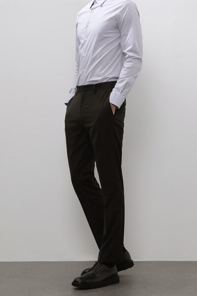 [남성] 울 센트럴핏 마이크로 패턴 수트 팬츠