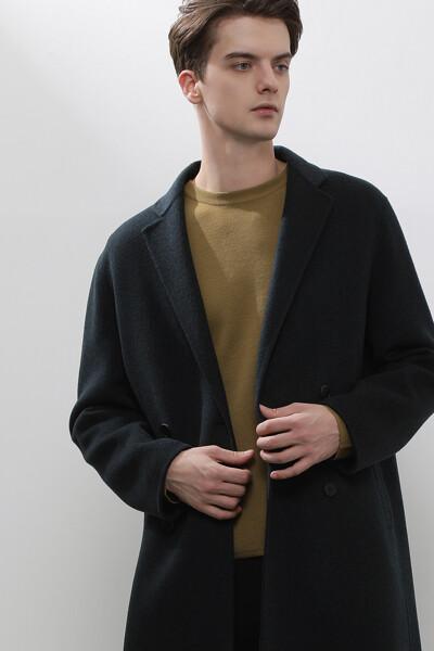 [남성] 캐시미어혼방 박시핏 핸드스티치드 더블 코트