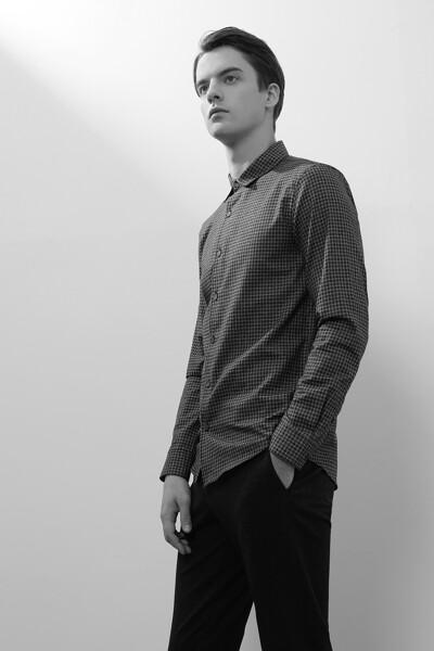 [남성] 코튼 스탠다드핏 체크 셔츠