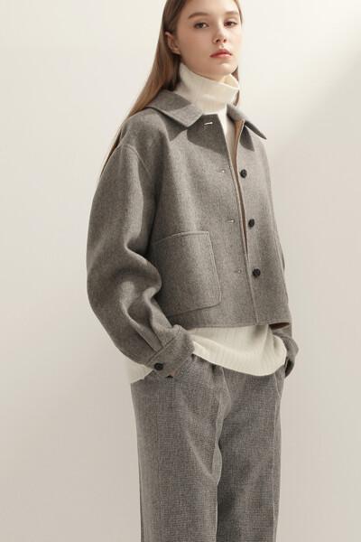 [여성] 앙고라혼방 박시핏 크롭 자켓