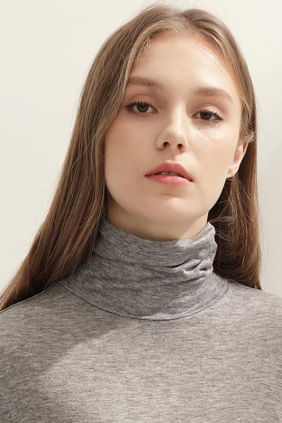 [여성] 베이직 터틀넥 스웨트 티셔츠