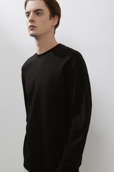 [남성] 면혼방 베이직 솔리드 스웻셔츠