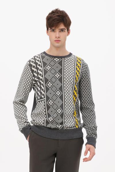[남성] 에스닉 라운드넥 스웨터