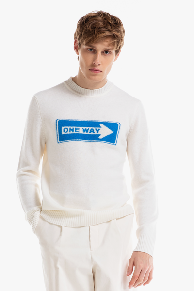 [남성] 울 아트워크 크루넥 스웨터