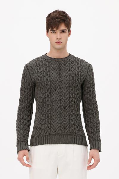 [남성] 케이블 크루넥 스웨터