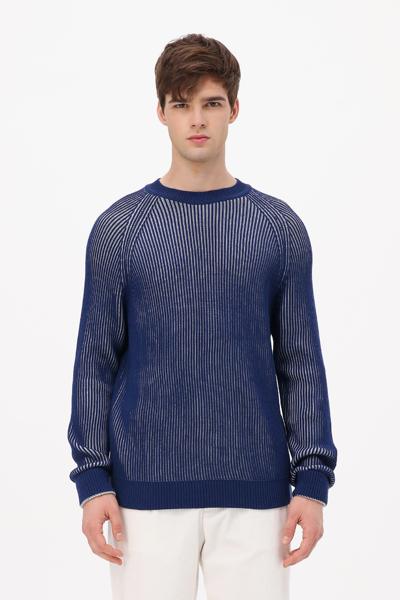 [남성] 울혼방 투톤 크루넥 스웨터