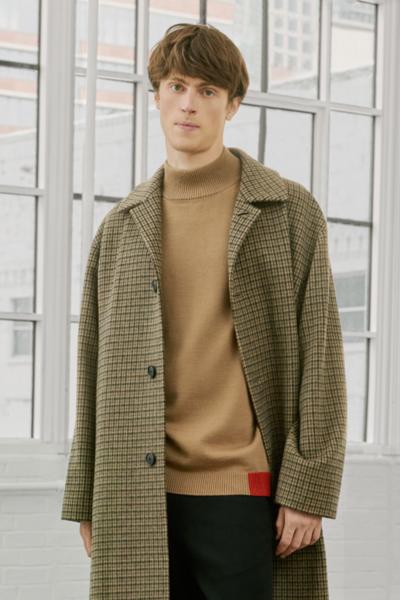 [남성] 울 컬러배색 모크넥 스웨터