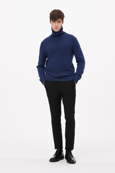 [남성] 울 멀티 컬러 터틀넥 스웨터