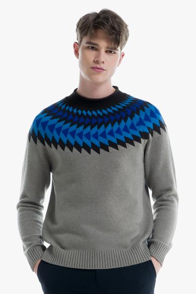 [남성] 울 페어아일 목넥 스웨터
