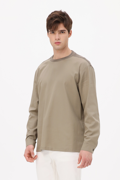 [남성] 배색 크루넥 티셔츠