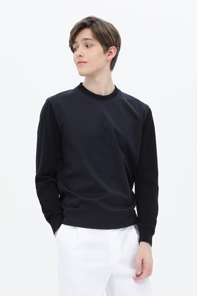 믹스 크루넥 티셔츠