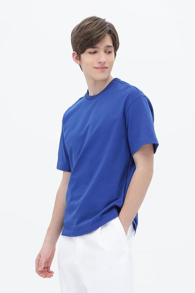 릴렉스핏 라인 배색 티셔츠