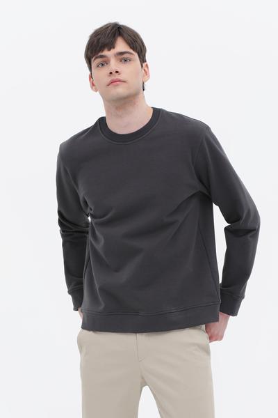[남성] 면혼방 루즈핏 라운드넥 스웨터