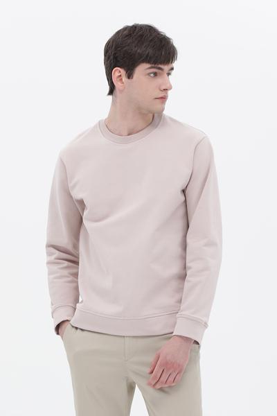 면혼방 루즈핏 라운드넥 스웨터