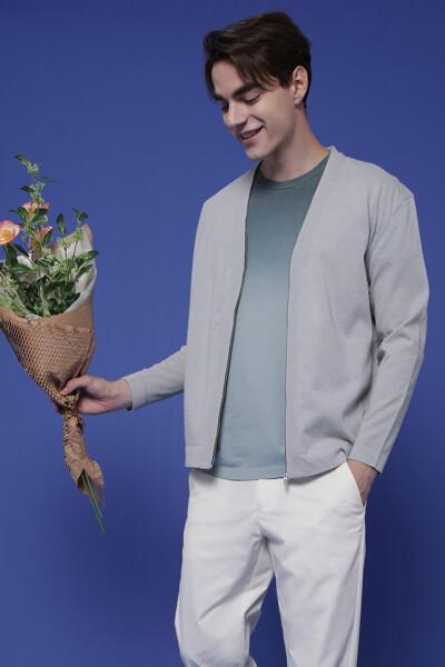 코튼 박시핏 그라데이션 반소매 티셔츠