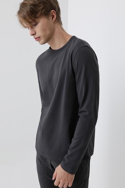 [남성] 코튼 레귤러핏 베이직 라운드넥 티셔츠
