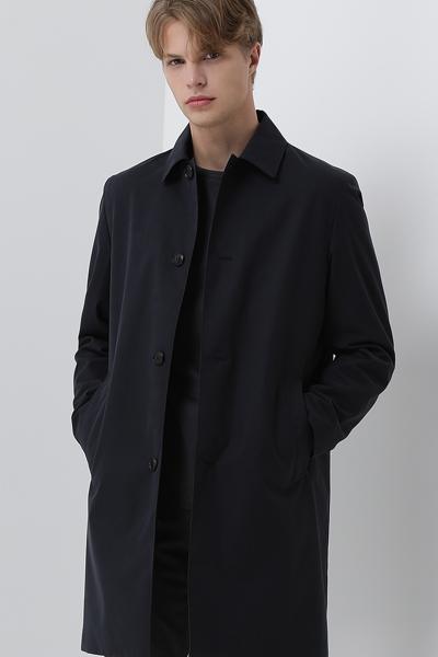 [남성] 면혼방 스탠다드핏 베이직 맥 코트