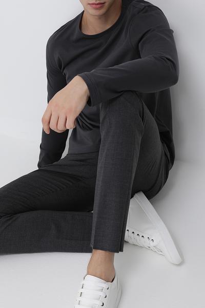 [남성] 울혼방 스트레치핏 솔리드 팬츠