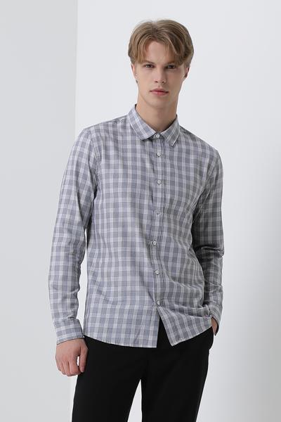 [남성] 코튼 레귤러핏 타탄체크 셔츠