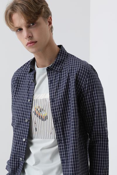 [남성] 코튼 레귤러핏 윈도우페인체크 셔츠