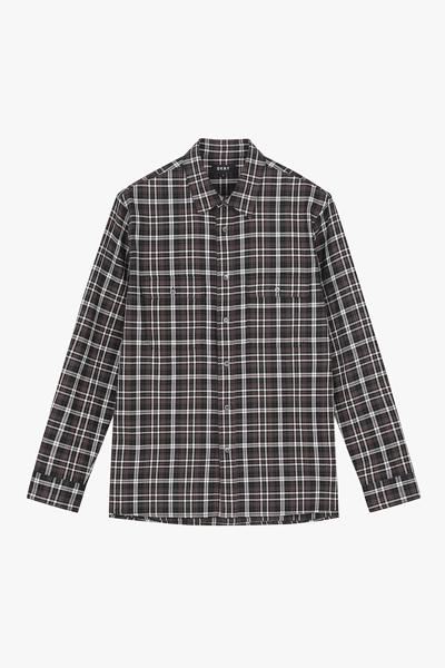 [남성] 코튼 스탠다드핏 오렌지 빅 체크 셔츠