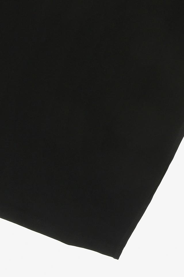 [여성] 면혼방 슬림핏 로고 라인 원피스