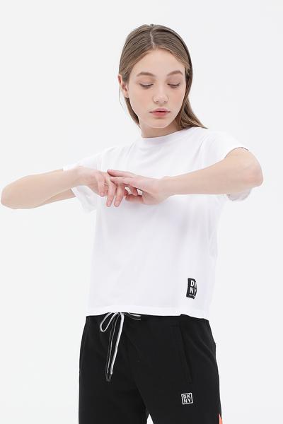 볼드 트랙 로고 반소매 티셔츠