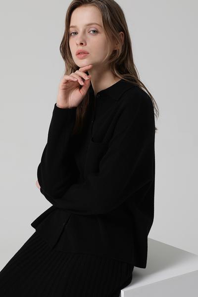 [여성] 울 혼방 박시핏 셔츠 탑