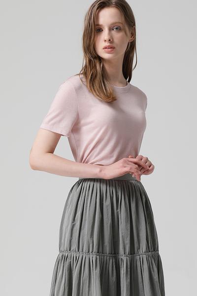 [여성] 레귤러핏 베이직 반소매 티셔츠