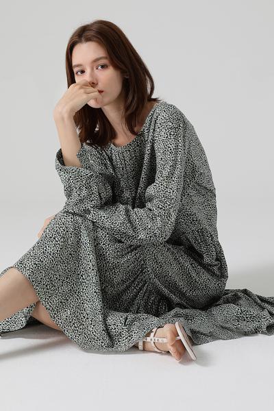 [여성] 프린트 맥시 드레스