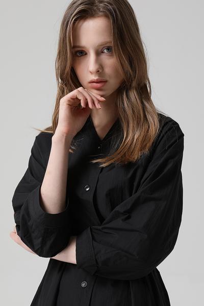 [여성] 벨티드 셔츠 원피스