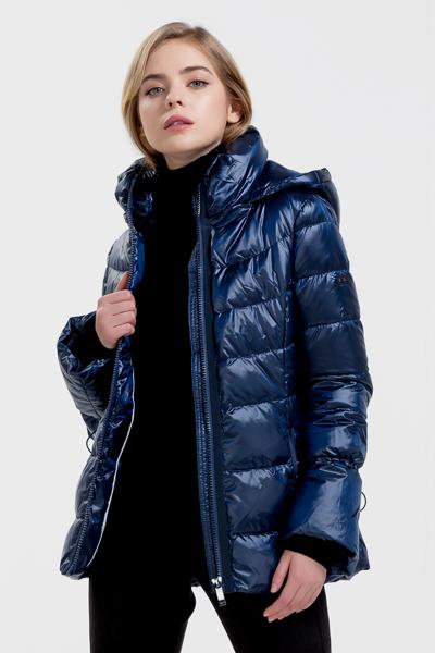 [여성] 솔리드 벨 하프 다운 자켓