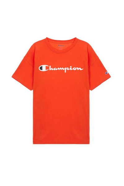 [US] Champion 로고 Classic Jersey 반팔 티셔츠 (NORMAL ORANGE) CKTS0E006O2