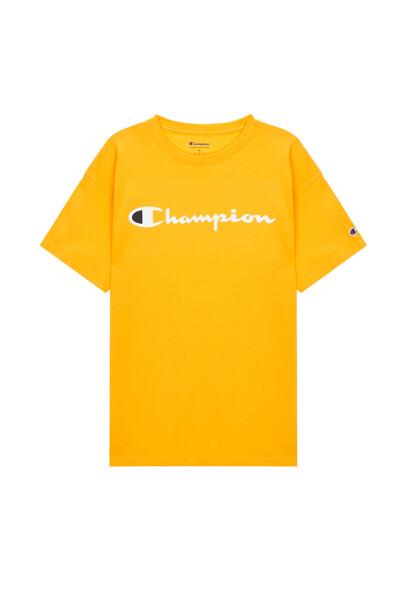 [US] Champion 로고 Classic Jersey 반팔 티셔츠 (GOLD) CKTS0E006GD