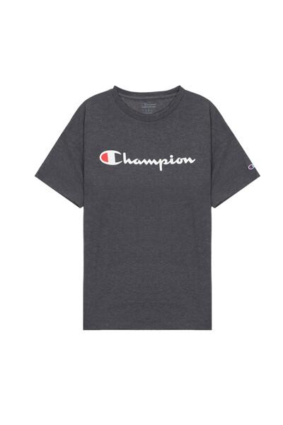 [US] Champion 로고 Classic Jersey 반팔 티셔츠 (DARK GREY) CKTS0E006G3