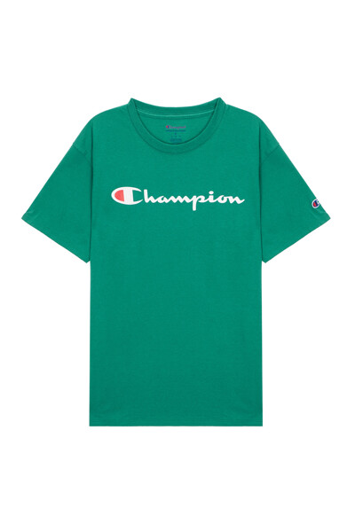 [US] Champion 로고 Classic Jersey 반팔 티셔츠 (NORMAL GREEN) CKTS0E006E2
