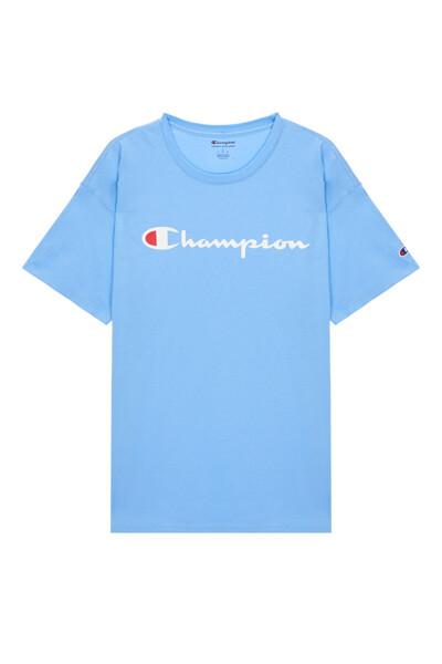 [US] Champion 로고 Classic Jersey 반팔 티셔츠 (PALE BLUE) CKTS0E006B4