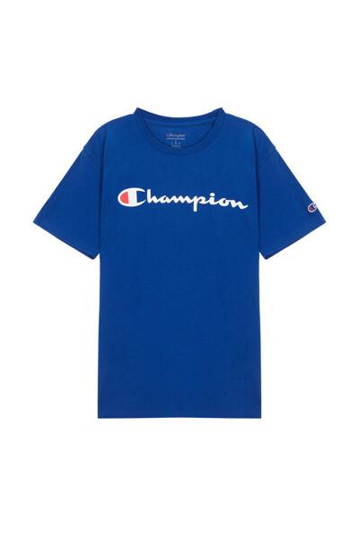 [US] Champion 로고 Classic Jersey 반팔 티셔츠 (NORMAL BLUE) CKTS0E006B2