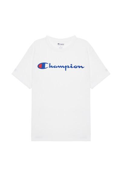 [US] Champion 로고 Classic Jersey 반팔 티셔츠 (WHITE) CKTS0E005WT